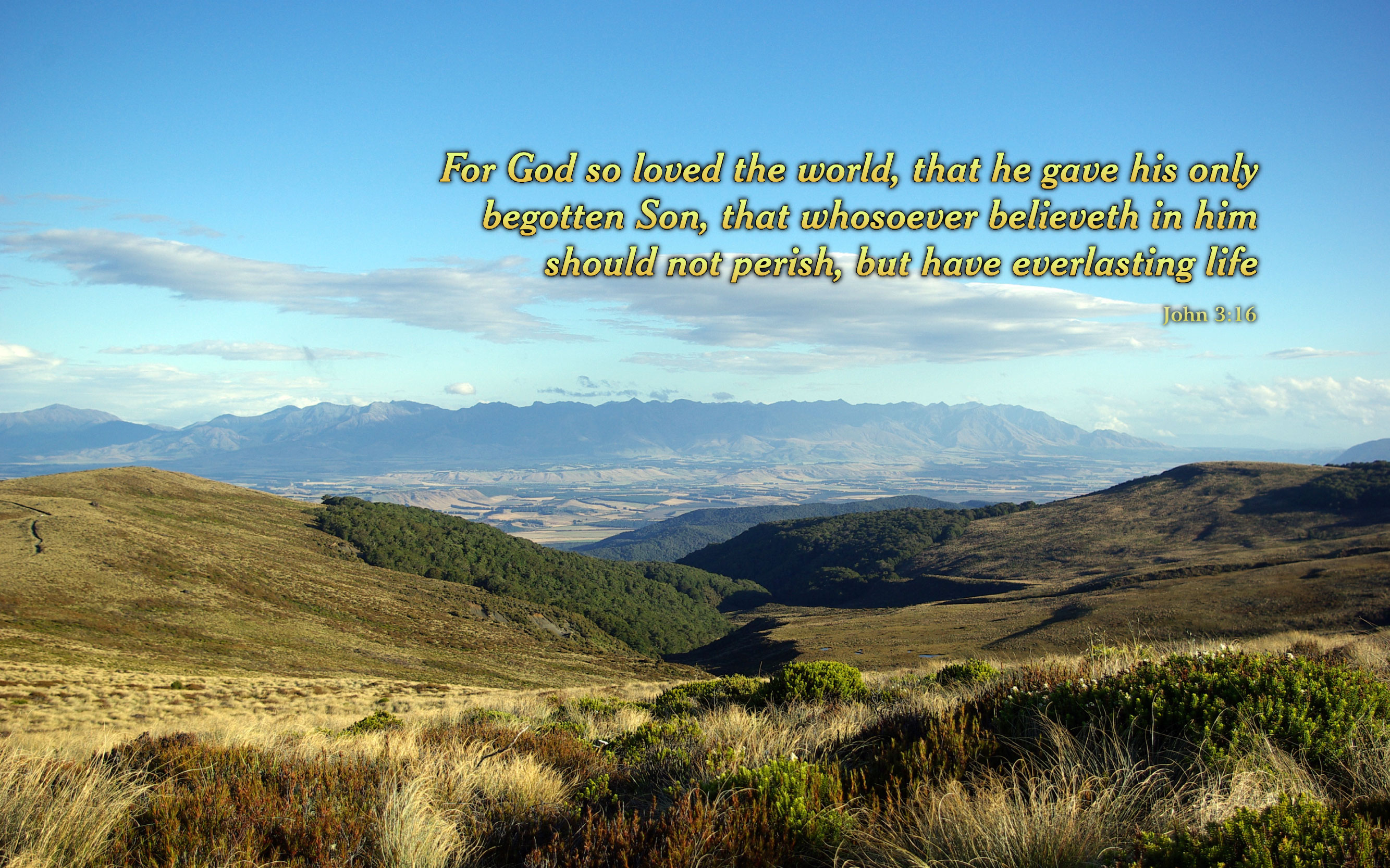 John 3:16 - Free Nature & Bible Desktop Background / Wallpaper