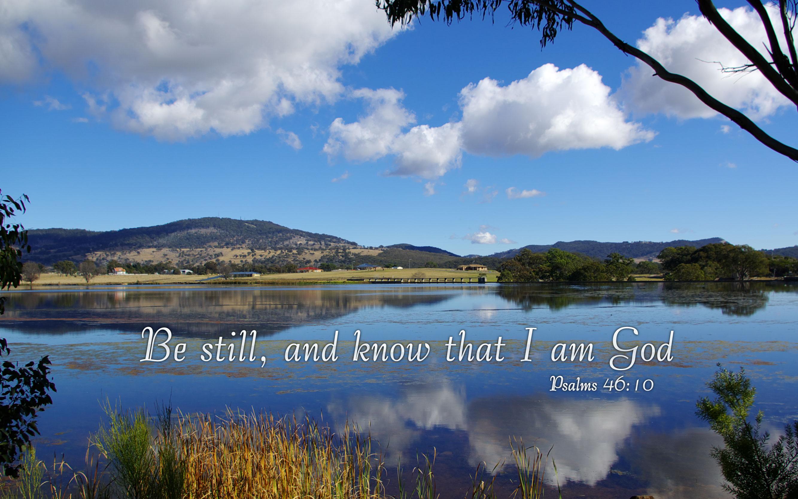psalms 46:10 - free nature & bible desktop background / wallpaper