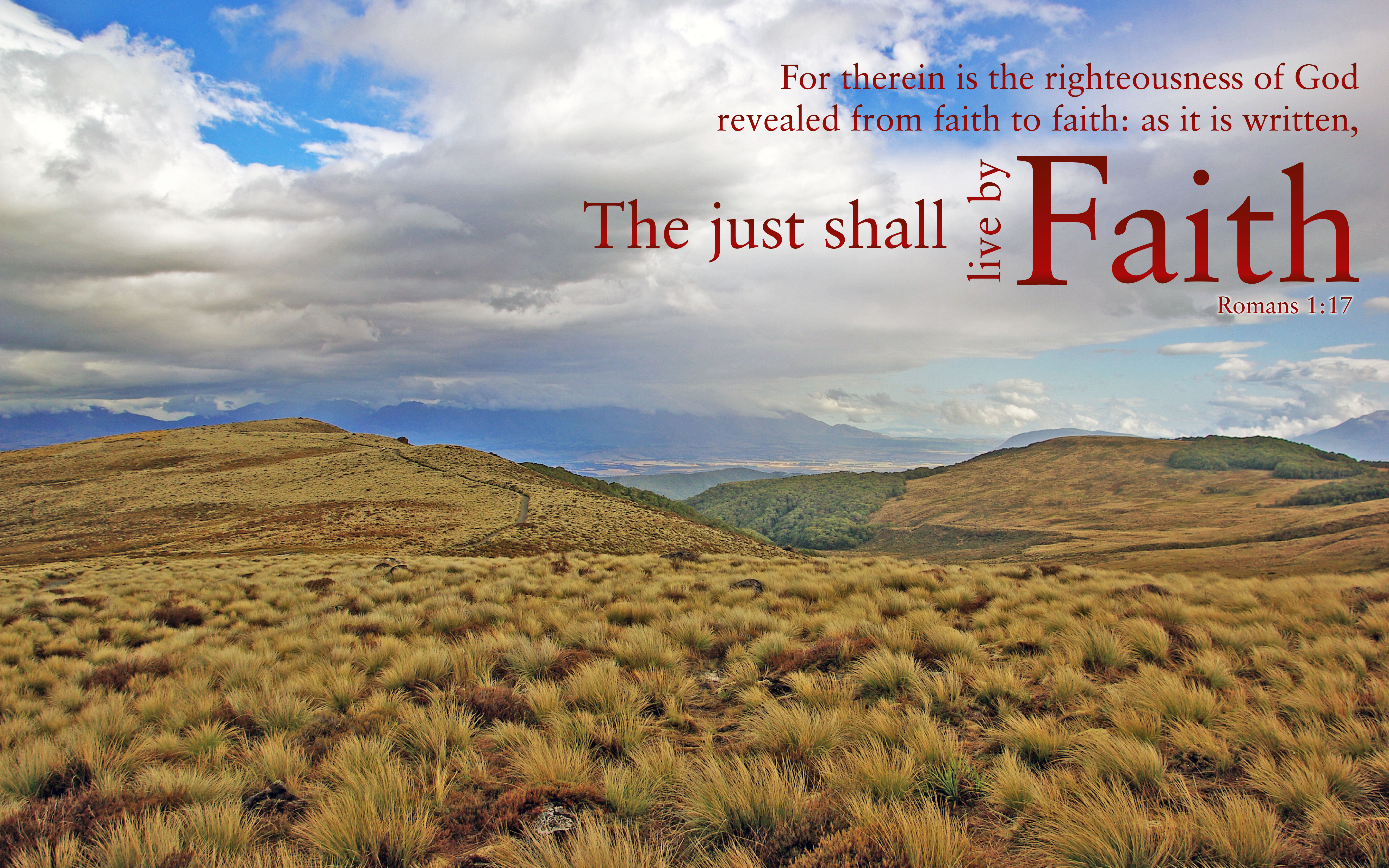 Romans 1:17 - Free Nature u0026 Bible Desktop Background / Wallpaper