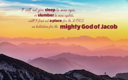 Psalms 132:4, 5 - Bible Desktop Background