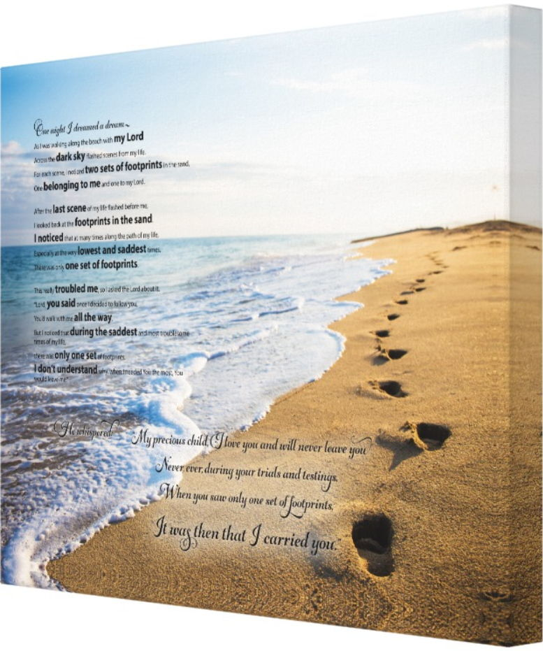Footprints in the Sand Canvass Print