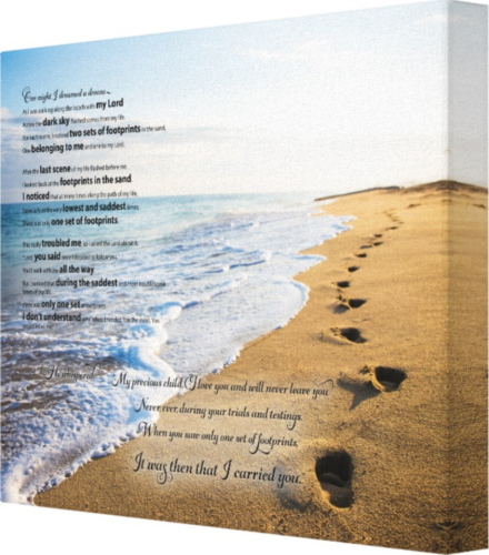 Footprints In The Sand Poem Beautiful Poem From Only The